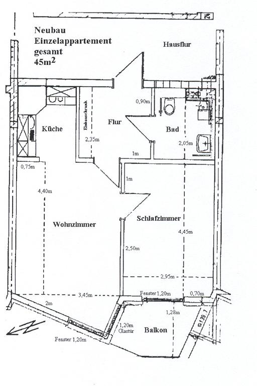 Einzelappartement